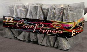 13-003 Silver Holographic Party Poppers